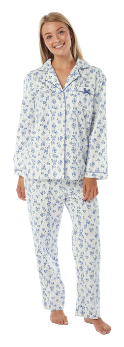 Traditional Winceyette Womens Pyjamas - 2 Pack