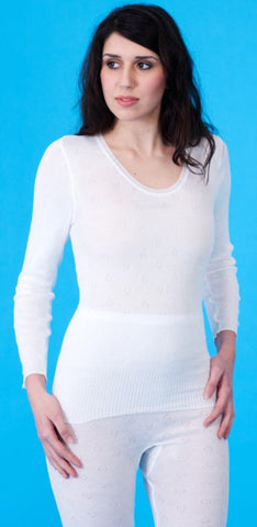White Snowdrop Thermal Long Sleeve Spencer