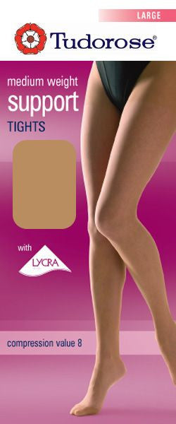 Tudor Rose Medium Support Tights With Lycra