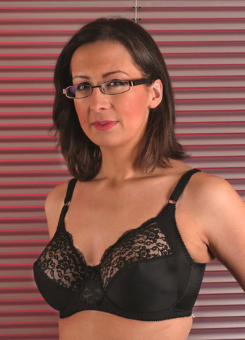 Berdita Lace Firm Control Underwired Bra (Black)