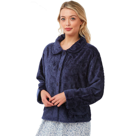 Lady Olga Polar Fleece Button Bed Jacket