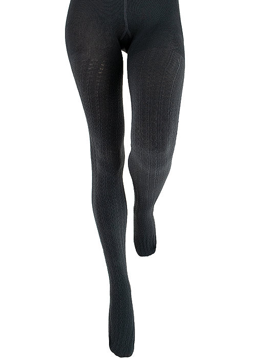 Couture Cable Knit Fleece lined Tights