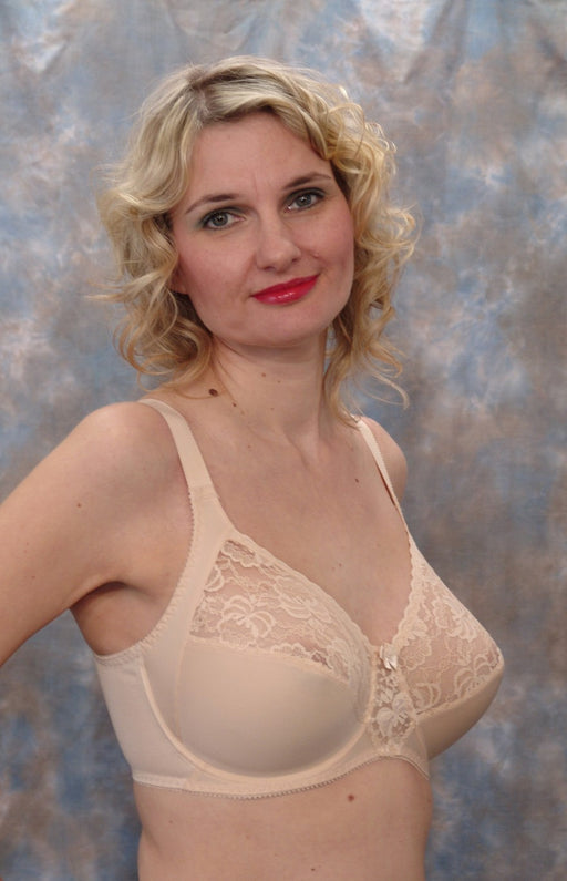 Berdita Lace Firm Control Underwired Bra (Beige)