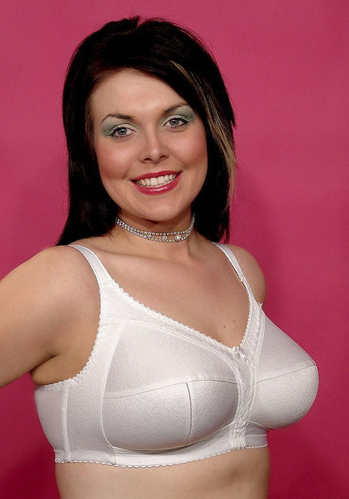Firm Control White Soft Cup Bra