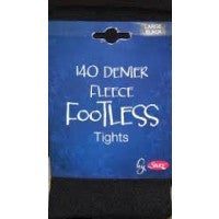 Fleece Lined Footless Tights 140 Denier