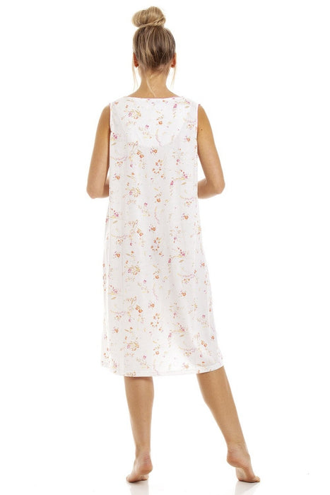 Ladies Cotton Jersey Sleeveless Nightdress By La Marquise