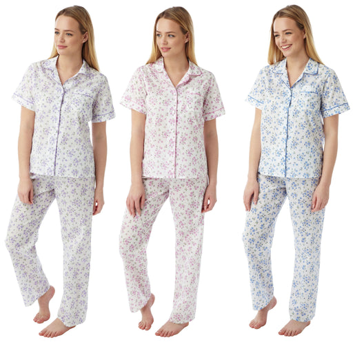 Short Sleeve Floral Pyjamas by Marlon