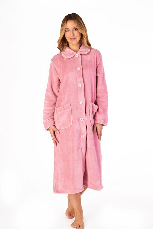 Slenderella Supersoft Button Front Dressing Gown
