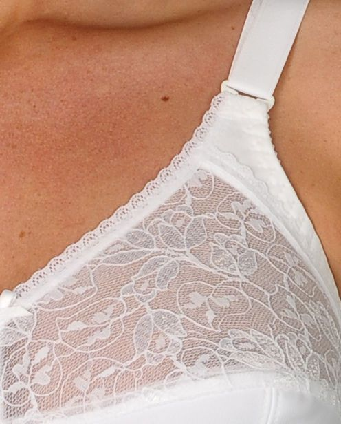 Silhouette Soft Full Cup Bra White With Optional Mastectomy Pockets