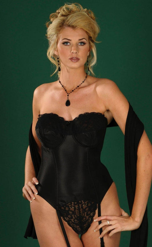 Silhouette Paysanne Wedding Basque Black