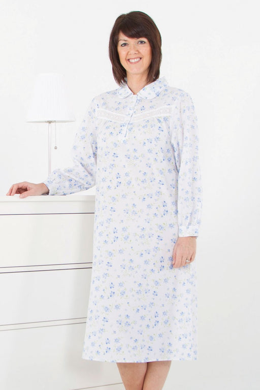 Slenderella Long Sleeve Floral Nightdress