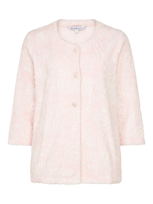 Slenderella Cosy Soft Touch Buttoned 3//4 Sleeve Bedjacket