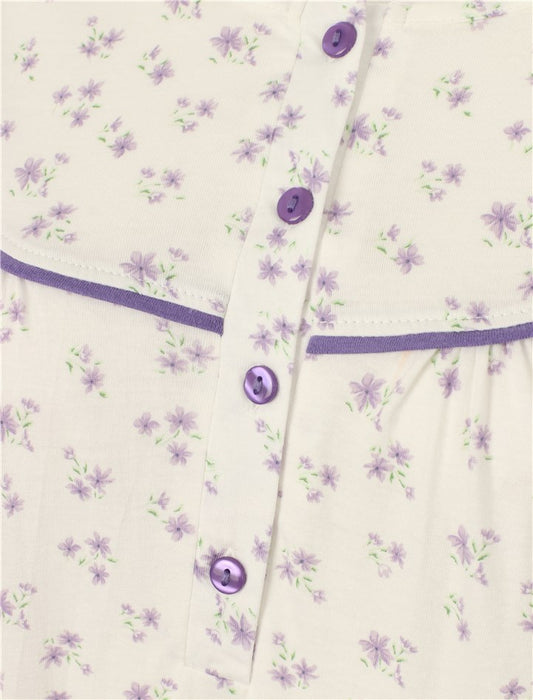 "Slenderella Long Sleeve 100% Cotton Jersey Long nightdress (51"" Length)"