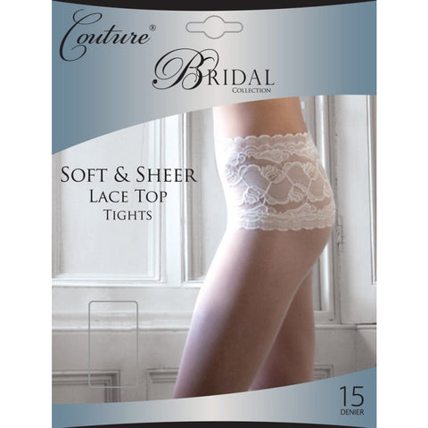 Lace Top Bridal Tights By Couture