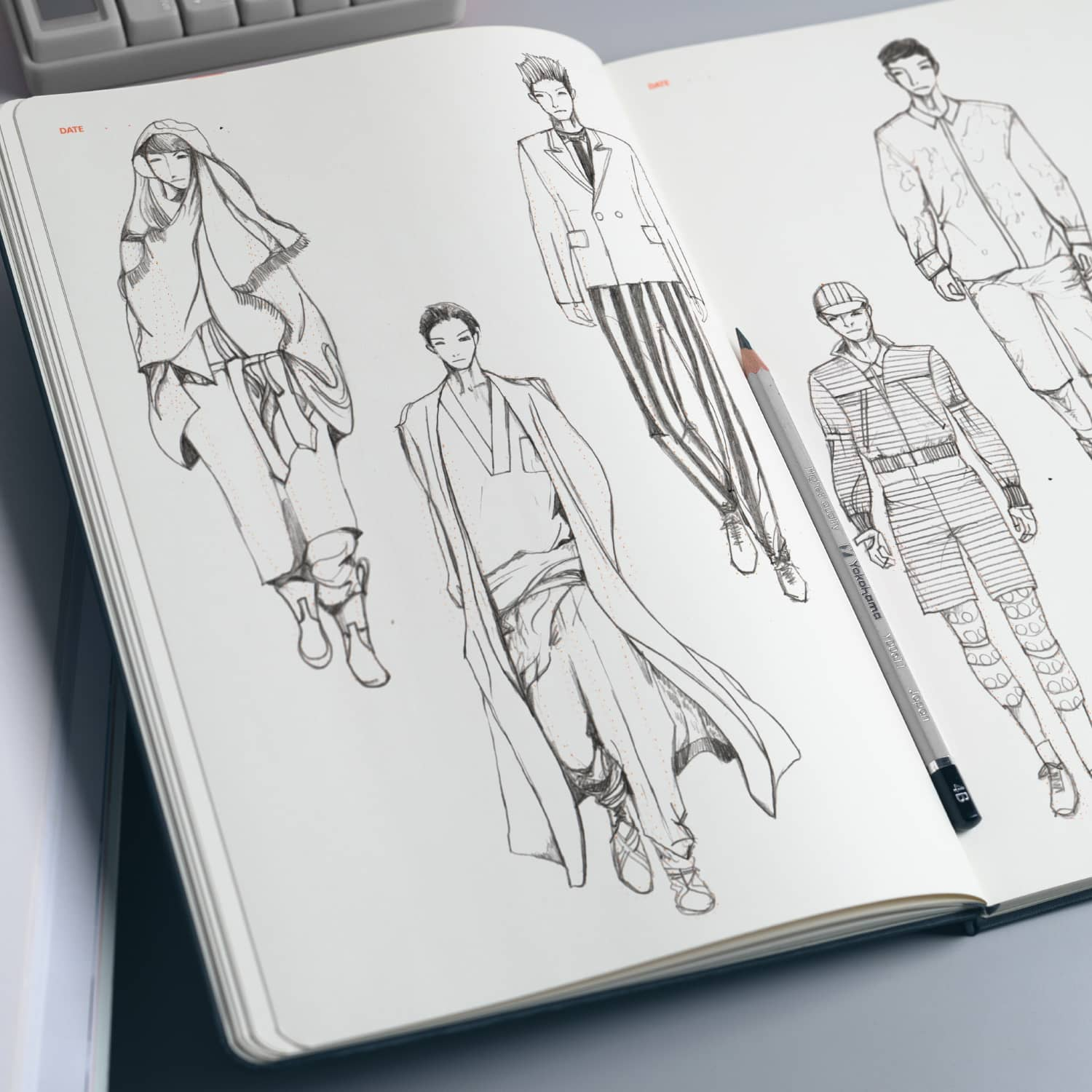 fashion sketchbook with templates - fashionary mens a4