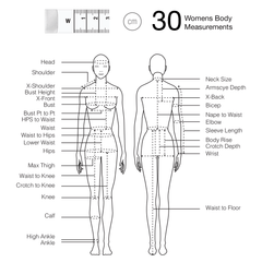 Fashionary Womens Body Measurement sewing