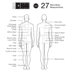 Fashionary Mens Body Measurement sewing