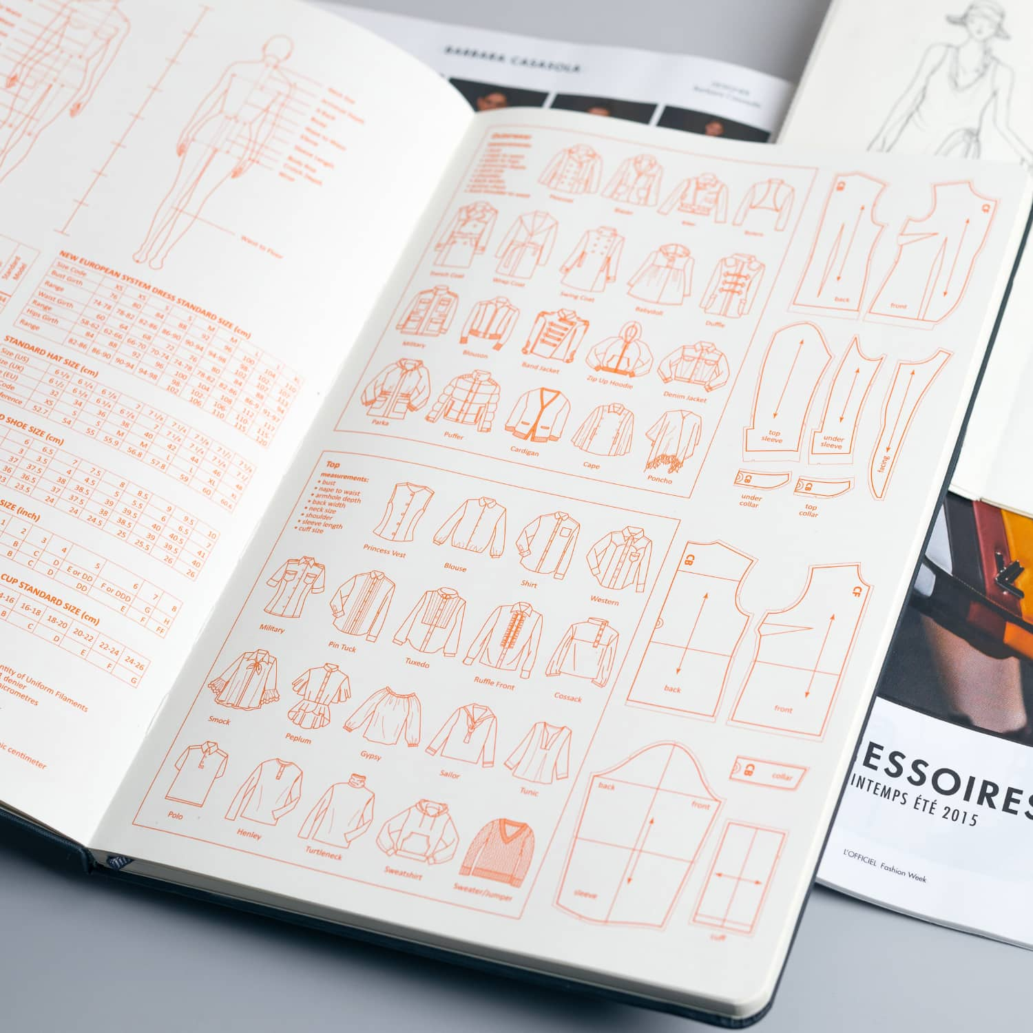 fashion sketchbook with templates - fashionary womens a4