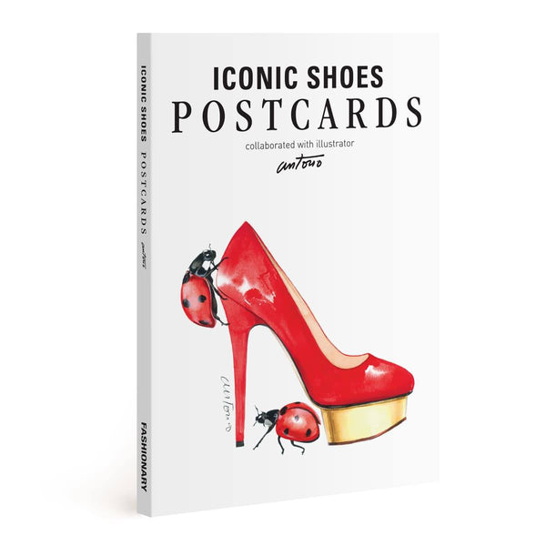 Iconic Shoes Postcards Illustrated by Antonio Soares - Fashionary  - 1