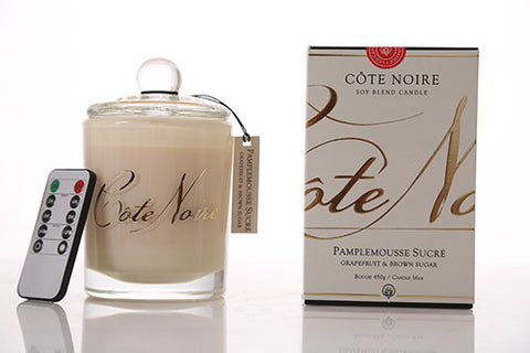Côte Noire 450g LED Sviečka - Grapefruit & Brown Sugar