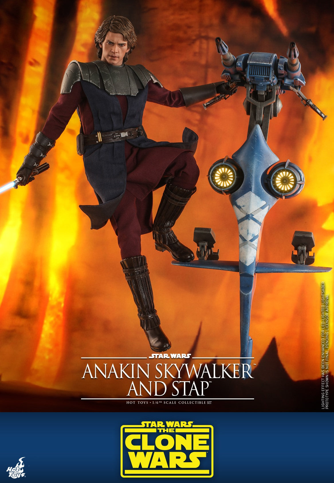 ANAKIN SKYWALKER: AND STAP: STAR WARS: CLONE WARS: TMS020: HOT TOYS-(1/6) Sixth Scale-Hot Toys