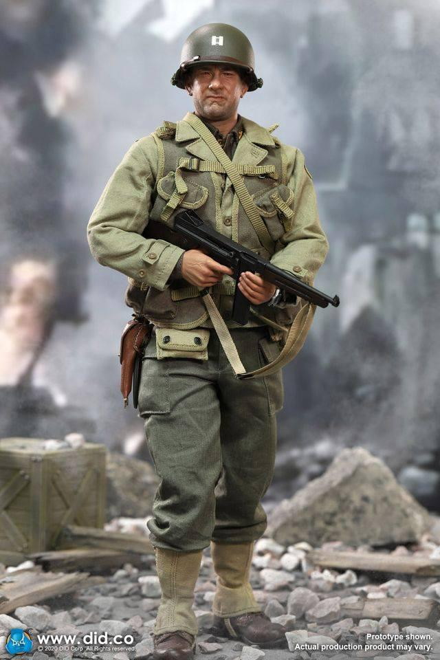 Captain Miller: Wwii: Us 2nd Ranger Battalion: A80145-(1/6) Sixth Scale-DID-Planet Action Figures
