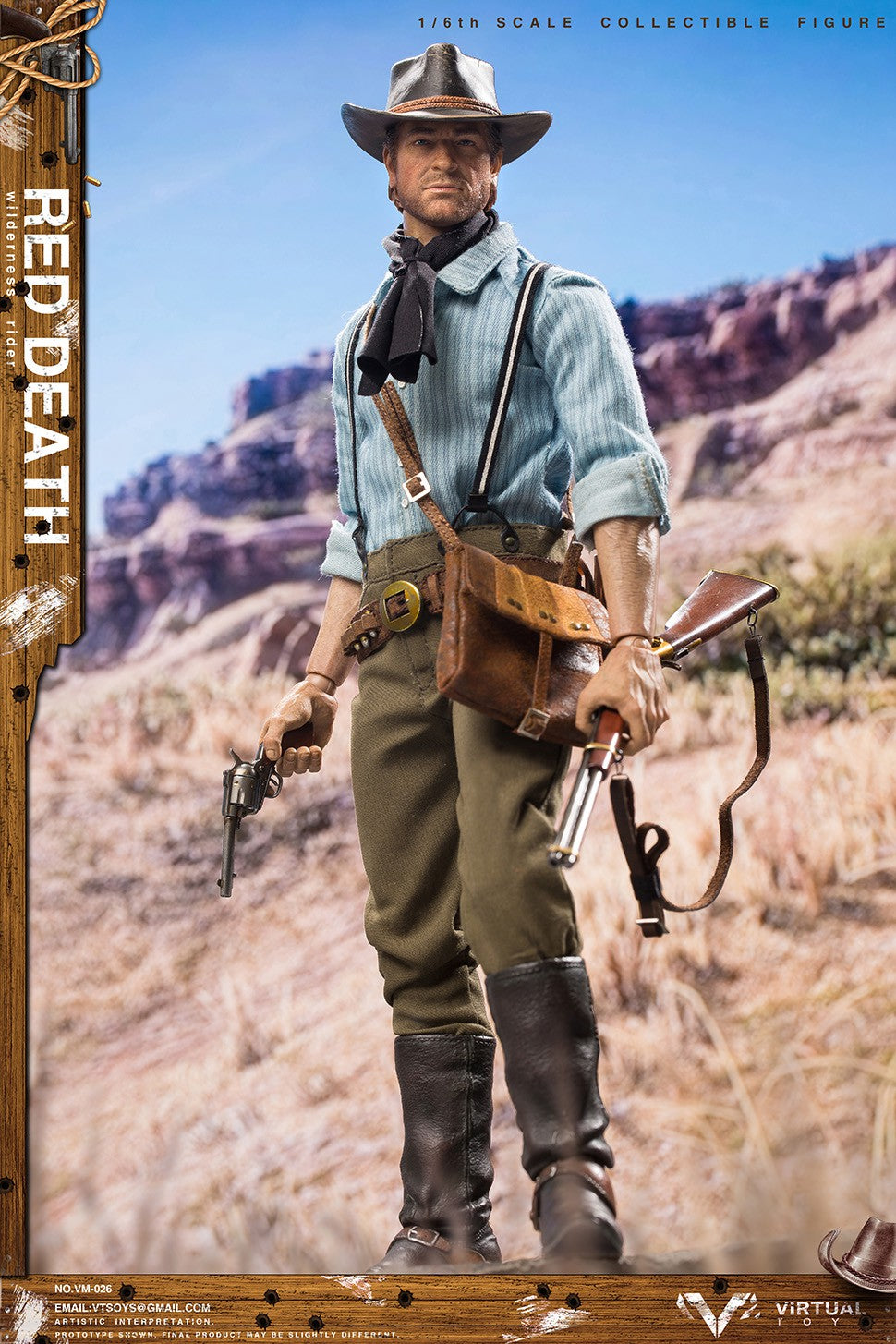 WILDERNESS RIDER: RED DEATH: VM-026: VTS TOYS: SIXTH SCALE-(1/6) Sixth Scale-VTS TOYS