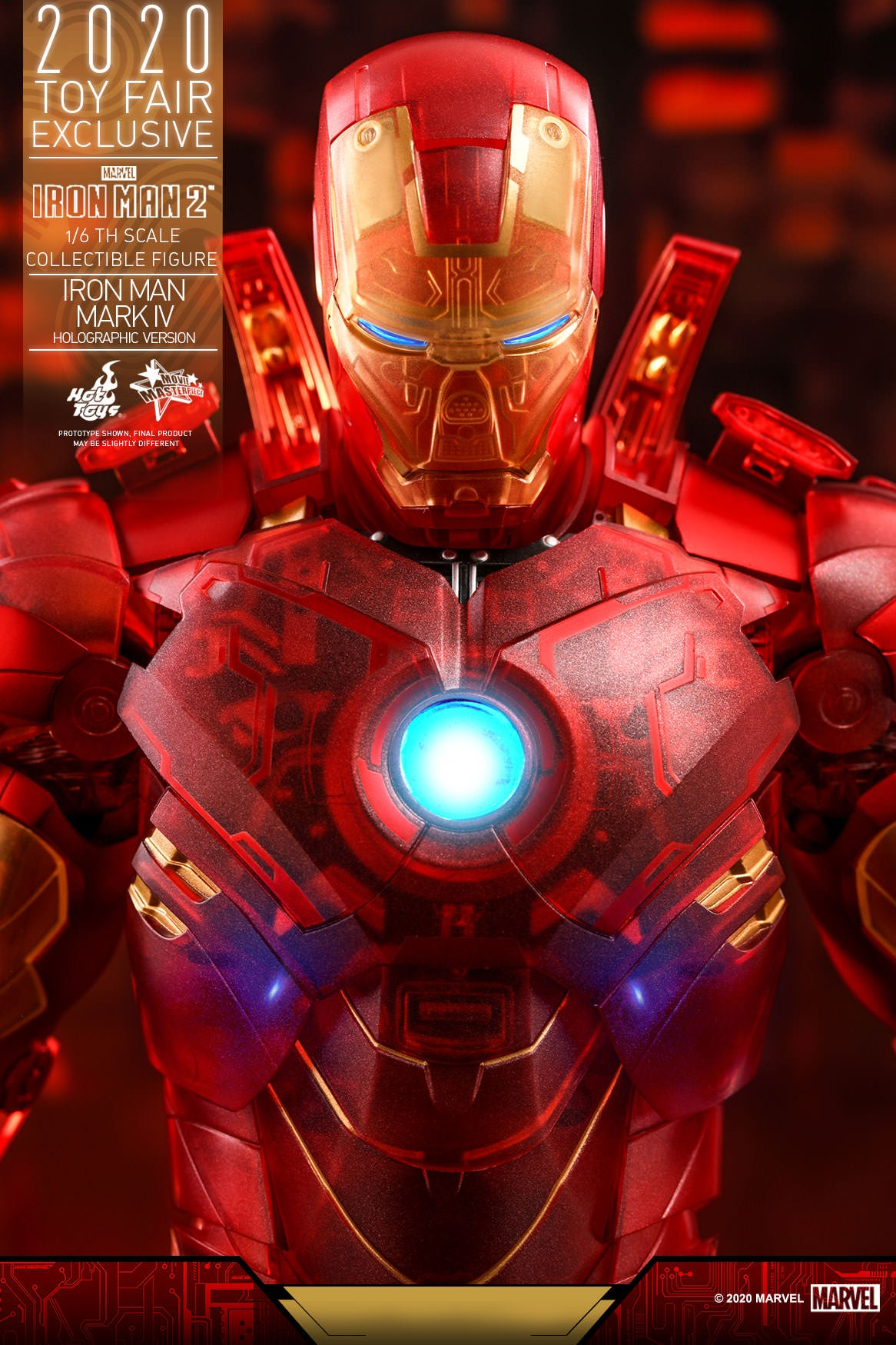 IRON MAN: MKIV: HOLOGRAPHIC VERSION: MMS568: TOY FAIR EXCLUSIVE