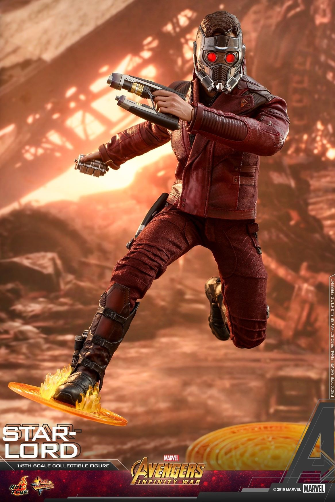 Star Lord: Avengers: Infinity War: MMS539-Sixth Scale Figure-Hot Toys-Planet Action Figures