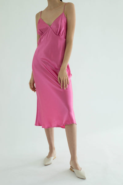 Ms. Valentine Silk Dress - Blossom