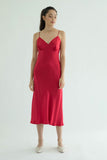 Ms. Valentine Silk Dress  - Ruby