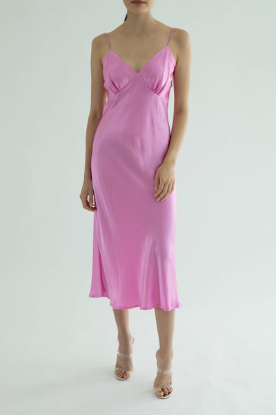 Ms. Valentine Silk Dress - Candy
