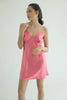Ms. Valentine Silk Mini Dress - Blush