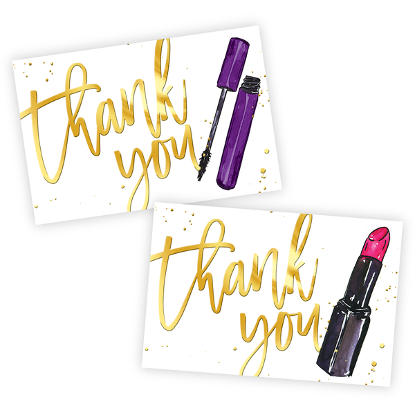 Liquid Gold Thank You Notes