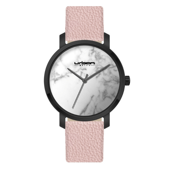 Berlin Urban Watch UW507 - Black White Marble/Pink - URBAN WATCH