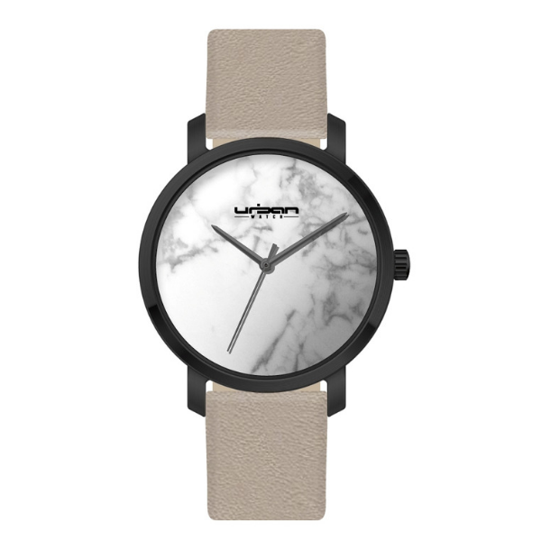 Berlin Urban Watch UW508 - Black White Marble/Gray - URBAN WATCH
