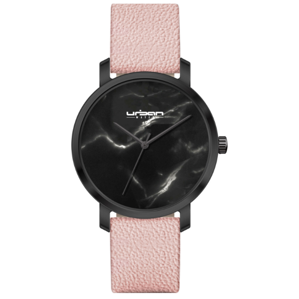 Berlin Urban Watch UW519 - Black Black Marble/Pink - URBAN WATCH