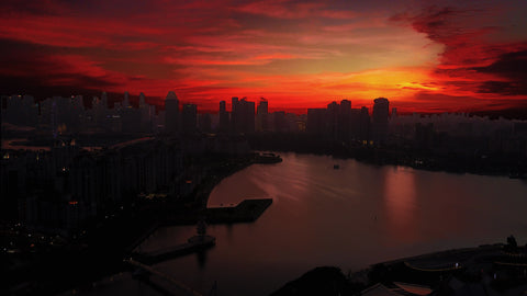 Mavic pro sunset Singapore
