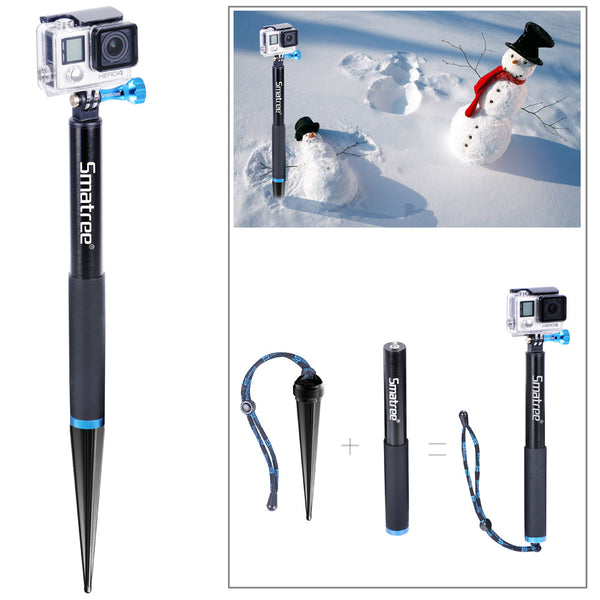 "Smatree  SmaSpike K1 Aluminum Pole with Spike Foot Monopod (11""-16"")"