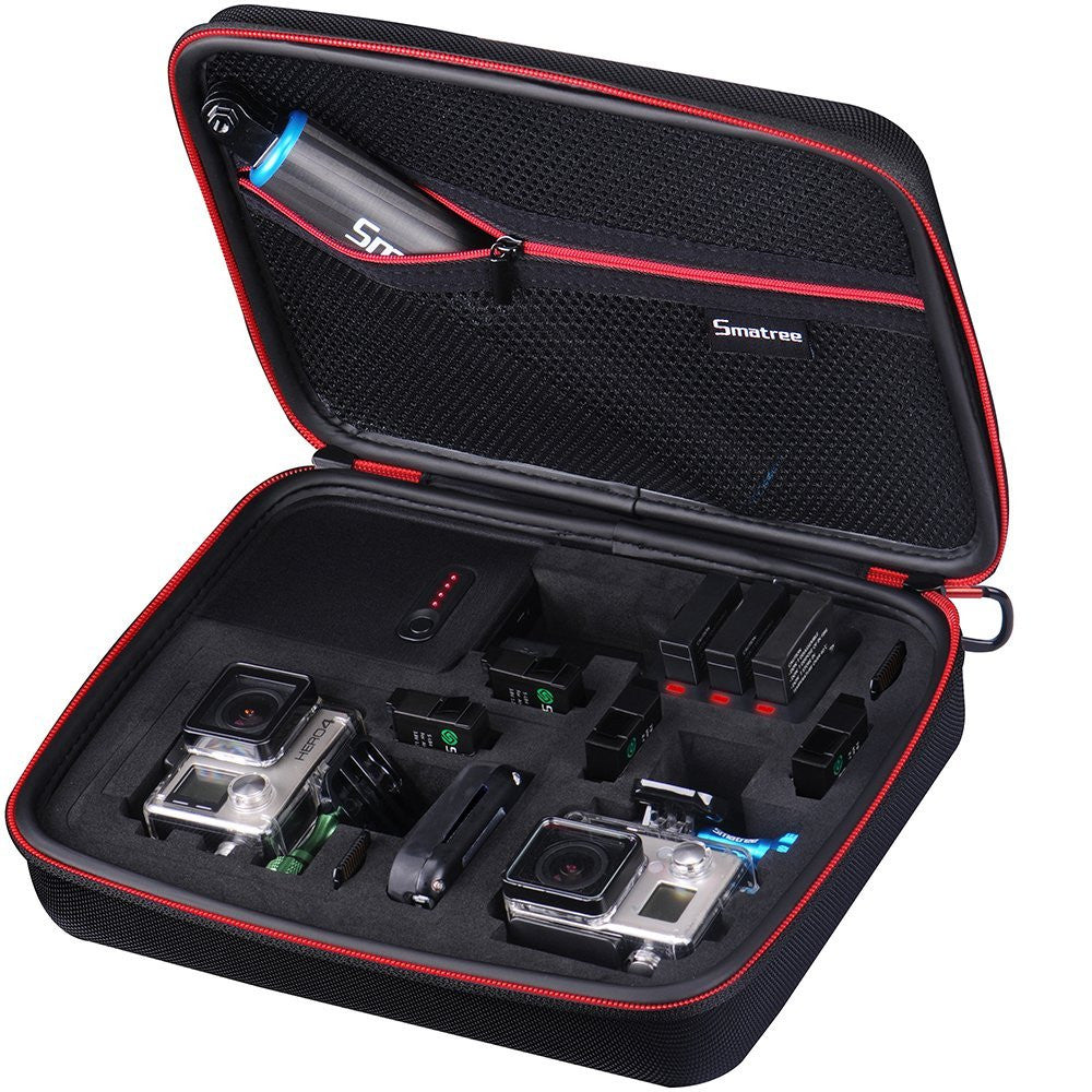 Smatree Power-Case G260P with Built-in power bank for Gopro hero4 and Accessories-Smatree 3-Channel Charger Included (10.1x 7.6x 2.9 inches)
