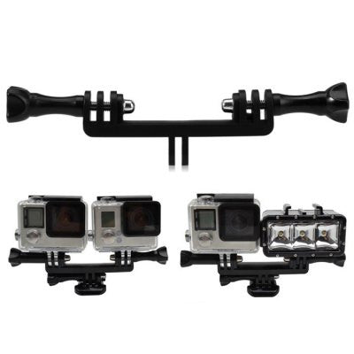 Double-Bracket Bridge, with 2PCS Screw for GoPro / Osmo Action Camera and LED Light