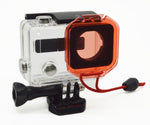 Red Filter For Gopro 3/ 3+ / 4 with lanyard