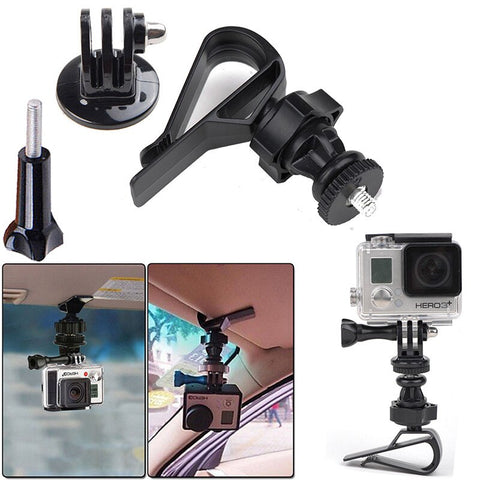 Gopro Accessories Car Visor Mount Clamp Clamp for Gopro Hero 4 3 + 3 SJ4000 SJCAM SJ5000 Xiaomi Yi Action Camera