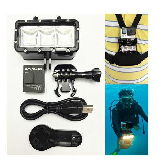 OEM, Stupig LED Waterproof Diving Light Attachment (30m Depth Underwater)