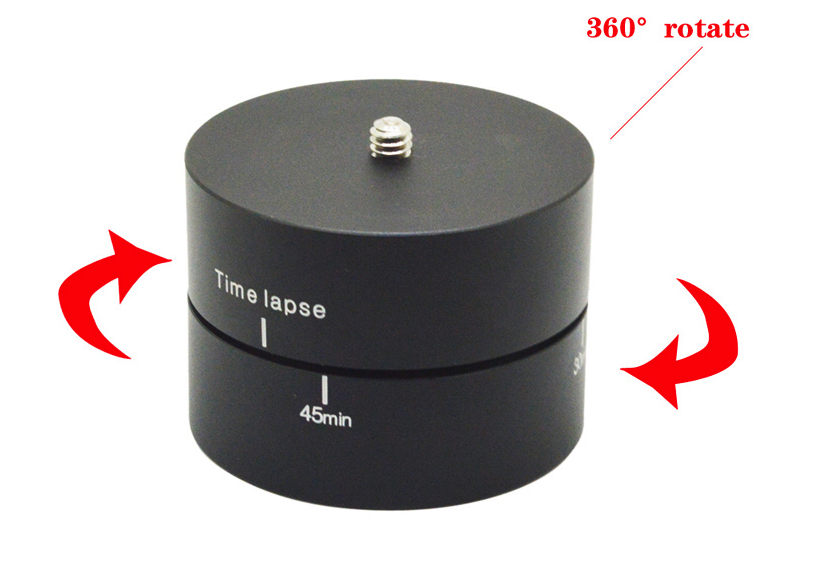 360 Degrees 60min Panning Rotating Time Lapse Stabilizer Tripod for GoPro/ Xiaoyi/ Sony cameras.