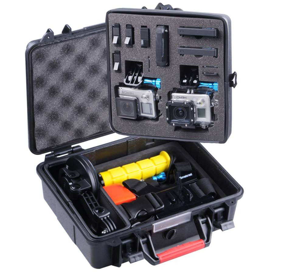 Smatree® Floaty SmaCase GA500 Carrying and Travel Case with Foam for Gopro® HD Hero4, 3+, 3, 2, 1 Camera camcorder and Essential Accessories - Black