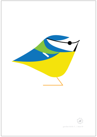 Blue Tit. Garden Birds | series 1.
