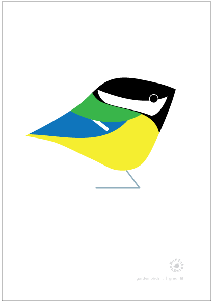 Great Tit. Garden Birds | series 1.