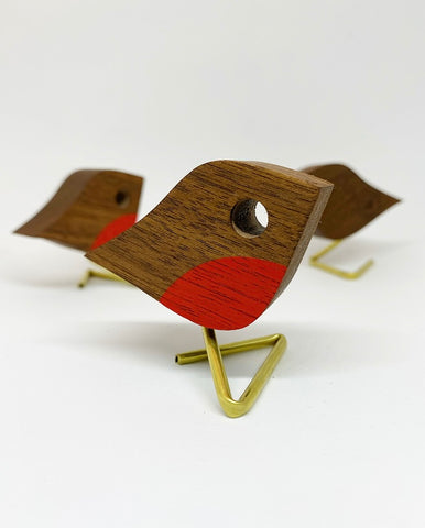 Petit Robin | reclaimed walnut & brass leg