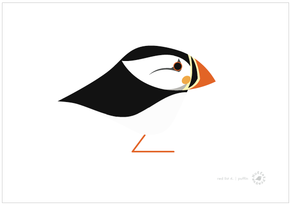 Puffin | MuffatPrague Editions Red List - series 4.